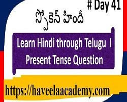 Learn Hindi through Telugu Day 41 І Questions – Haveela Academy