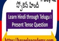 Learn Hindi through Telugu Day 42 І Questions – Haveela Academy