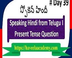 Speaking Hindi from Telugu Day 39 І Questions – Haveela Academy